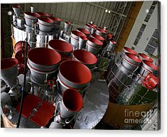 The Boosters Of The Soyuz Tma-14 Acrylic Print by Stocktrek Images