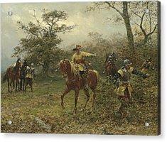 The Boscobel Oak Acrylic Print by Earnest Crofts
