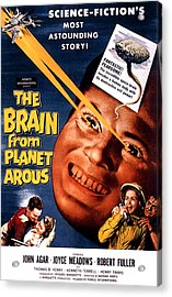 The Brain From Planet Arous, Center Acrylic Print by Everett