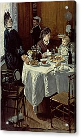 The Breakfast Acrylic Print by Claude Monet