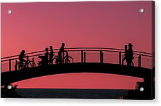 The Bridge Acrylic Print by Amr Miqdadi