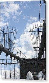 The Bridge In Brooklyn Acrylic Print by David Bearden