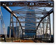 The Bridge In Nashville Acrylic Print by Susanne Van Hulst