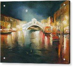 The Bridge Acrylic Print by Nelya Shenklyarska