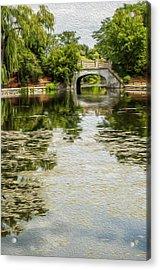 The Bridge On The Pond. Acrylic Print