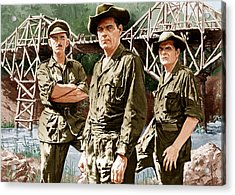 The Bridge On The River Kwai, From Left Acrylic Print by Everett