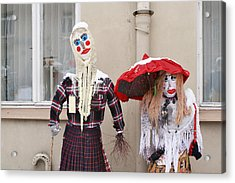 The Bright Ridiculous Dolls Similar To People. Acrylic Print by Aleksandr Volkov