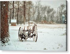 Acrylic Print featuring the photograph The Broken Wheel by Kelly Reber