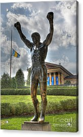 The Bronze Stallion - Rocky Balboa - Philadelphia - Pennsylvania - Rocky Steps Acrylic Print