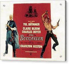 The Buccaneer, Charlton Heston, Yul Acrylic Print by Everett