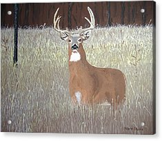 Acrylic Print featuring the painting The Buck Stops Here by Norm Starks