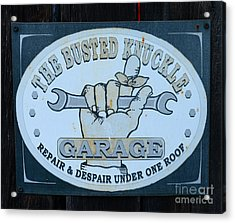 The Busted Knuckle Acrylic Print by Paul Ward