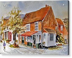 Acrylic Print featuring the painting The Butcher Shop Lenham by Beatrice Cloake