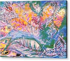 The Butterfly's Dream Acrylic Print by Anne-Elizabeth Whiteway