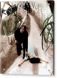 The Cabinet Of Dr. Caligari, From Left Acrylic Print by Everett