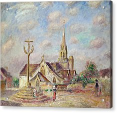 The Calvary At Pont Aven Acrylic Print by Pierre Auguste Renoir