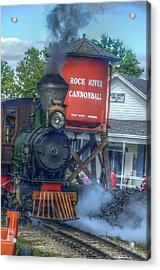 The Cannonball Express Acrylic Print by Janice Adomeit