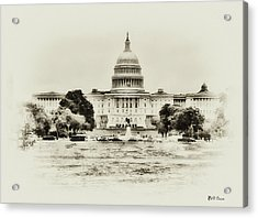 The Capital Bulding Acrylic Print by Bill Cannon