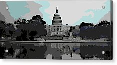 the Capitol  Acrylic Print by George Pedro