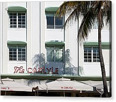 The Carlyle Hotel 2. Miami. Fl. Usa Acrylic Print