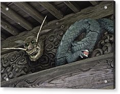 The Carved Shrine Dragon Acrylic Print