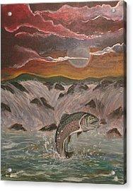 The Catch Acrylic Print by Shadrach Ensor
