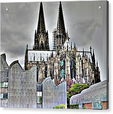 The Cathedral In Cologne On The Rhine Acrylic Print