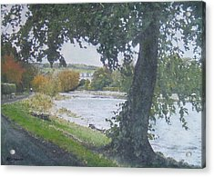 Acrylic Print featuring the painting The Cauld Peebles by Richard James Digance
