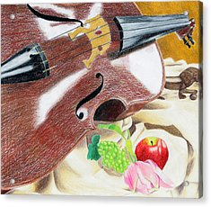 The Cello Acrylic Print by Kayla Nicole