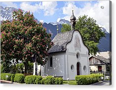 The Chapel In Alps Acrylic Print