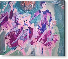 The Chocolate Chandelier Ballet Company Acrylic Print by Judith Desrosiers