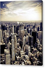 The Chrysler Building And Skyscrapers Of New York City Acrylic Print by Vivienne Gucwa