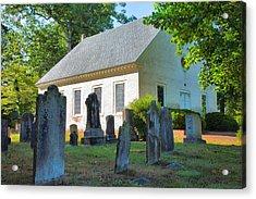 The Church Cemetery Acrylic Print by Steven Ainsworth