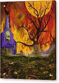 Acrylic Print featuring the painting The Church Of Ruin by Christophe Ennis
