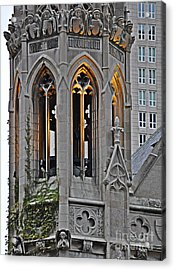 The Church Tower Acrylic Print by Mary Machare