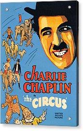 The Circus, Charlie Chaplin, 1928 Acrylic Print by Everett