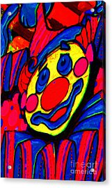 The Circus Circus Clown Acrylic Print by Wingsdomain Art and Photography