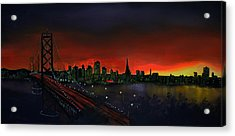 The City By The Bay Acrylic Print by Jamil Alkhoury