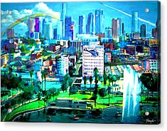 The City Of Angels Acrylic Print by Rom Galicia