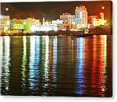 The City Of The Color Acrylic Print by Jenny Senra Pampin