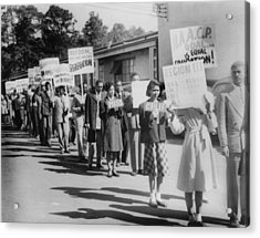 The Civil Rights Movement Began Acrylic Print