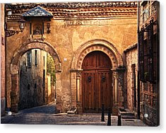 The Claustra Gate In Segovia Acrylic Print