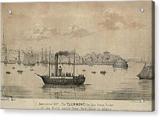 The Clermont Robert Fultons First Acrylic Print by Everett