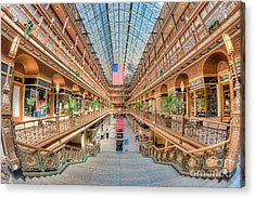 The Cleveland Arcade IIi Acrylic Print by Clarence Holmes