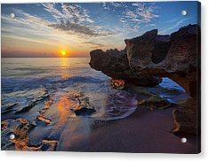 The Cliffs Of Florida Acrylic Print by Claudia Domenig