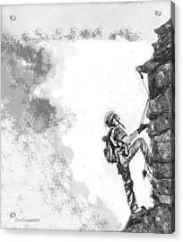 The Climber Acrylic Print by Jim Hubbard