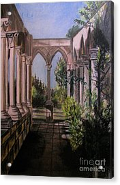 The Cloisters Colonade Acrylic Print by Judy Via-Wolff