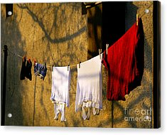 The Clothes Acrylic Print by Odon Czintos