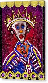 The Clown King Acrylic Print
