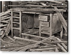 The Cluttered Desk Acrylic Print by JC Findley